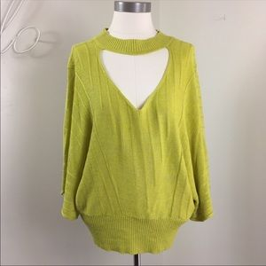 Knitted & Knotted Anthro Linen Blend Sweater